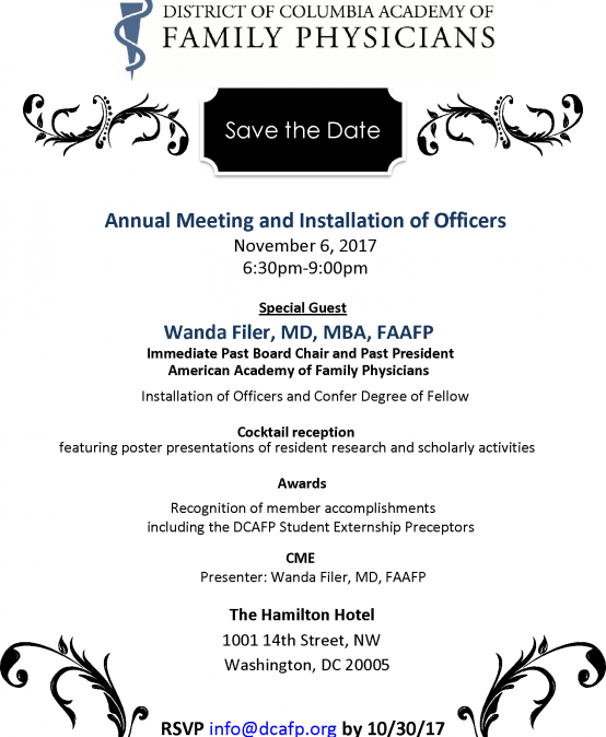 DCAFP 2017-NOVEMBER- Annual Meeting_Save the Date