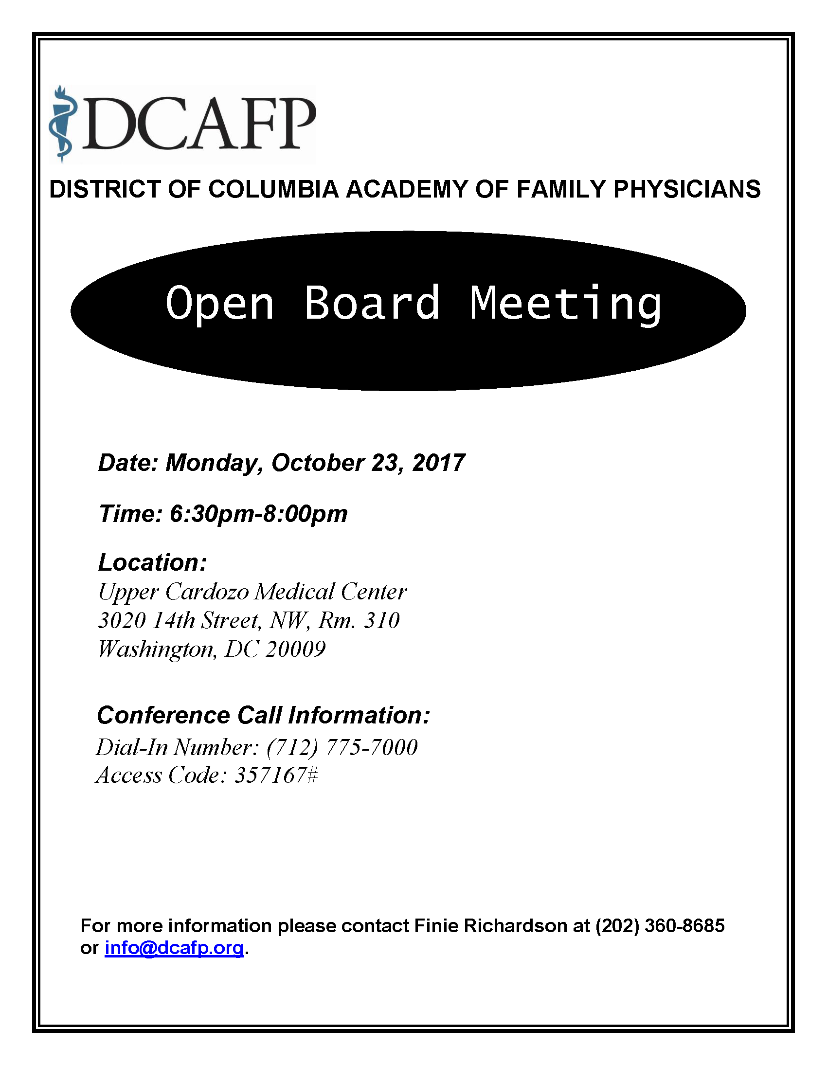 DCAFP Meeting Announcement_October2017