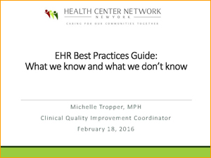 EHR Best Practices Guide