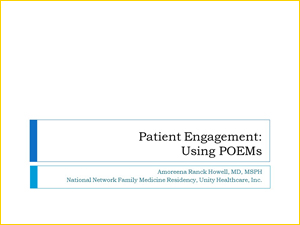 Patient Engagement: Using POEMs