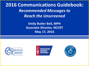 2016 Communications Guidebook:Recommended Messages to Reach the Unscreened